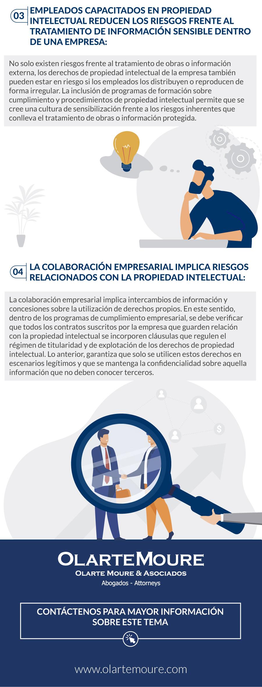 empleados capacitados en propiedad intelectual reducen riesgos en el tratamiento de la información.
